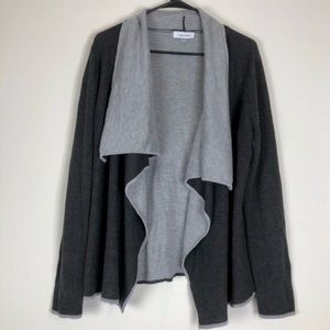 CALVIN KLEIN Two-Tone Grey Cardigan XS